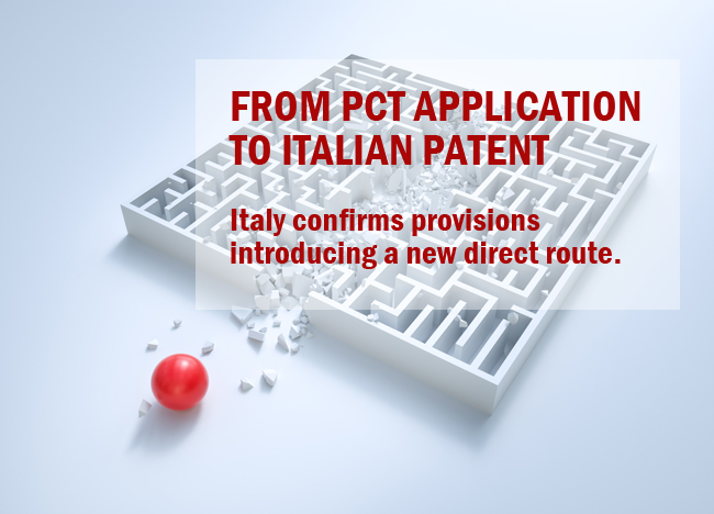 from PCT application to Italian patent