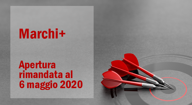 Bando Marchi+3 apertura rimandata